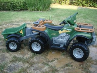 POWER WHEELS BATTERY OPERATED KAWASAKI ADVENTURE 4X4 TRUCK WITH DUMP