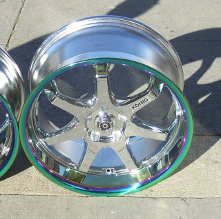 20x10 Konig Afterburner Wheels FX45 FX45 Murano Ford Mustang Explorer