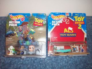 HOT WHEELS ACTION packs Rare 2 Different Toy Story sets Als Toy Barn