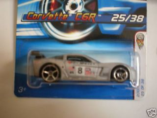 2006 Hot Wheels Corvette C6R Silver 5o Spoke First Ed
