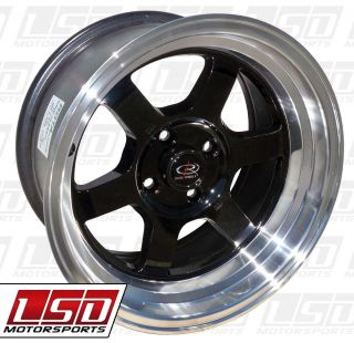 15 Rota Grid V Black Rims Wheels 15x8 0 4x114 3 AE86 Corolla 240sx s13
