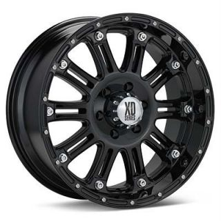 22 inch KMC XD Hoss Black Wheels Rims 8x6 5 8x165 1