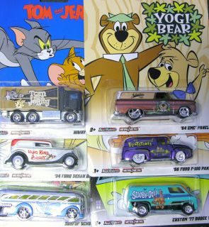 Hot Wheels 2012 Hanna Barbera SET OF ALL 6 Scooby, Yogi, Flintstones