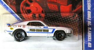 Hot Wheels Vintage Racing 70 Ford Mustang White Ed TerryS