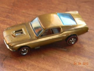 Scoop Variation Ohs 1968 Redline Hot Wheels Gold Custom Mustang