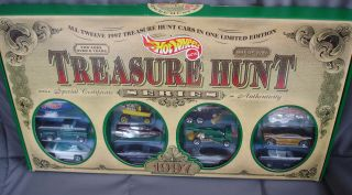 1997 Hot Wheels Boxed Treasure Hunt Set JC Penney