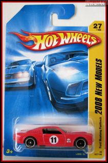 2008 Hot Wheels 027 Ford Mustang Fastback Red