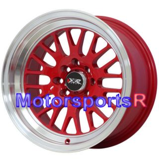 Red 20 Rims Wheels Deep Dish Lip Stance 4x100 98 Honda Civic SI