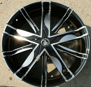 Polo Maze PL1 22 Black Rims Wheels Ford Expedition 97 02 22 x 9 5 5H
