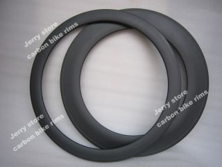 Full Carbon Fiber Road Bike Rims Front 50mm and Rear 88mm Deep Tubular