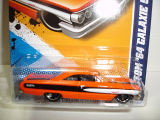 HOT WHEELS CUSTOM 1964 FORD GALAXIE 500 MUSCLE MANIA FORD 113 CASE H