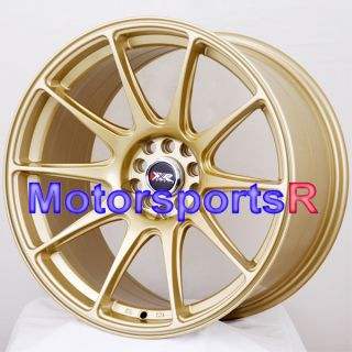18 XXR 527 Gold Concave Rims Staggered Wheels 5x4 5 99 04 Ford Mustang
