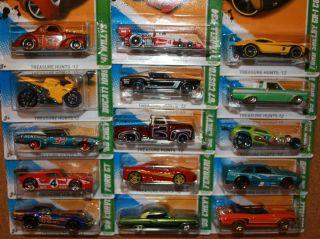 2012 Hot Wheels Treasure Hunt Complete Set of 15