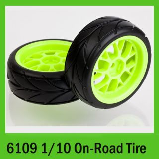 Tires 6109 1 10 on Road RC Car Wheels Rim Tyre Set