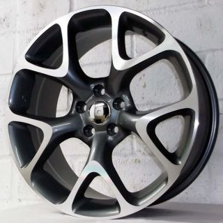 ASTRA VAUXHALL ASTRA NEW MODEL GUNMETAL POLISHED ALLOY WHEELS 5x105