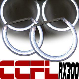 WHITE CCFL HALO ANGEL EYES HEAD LIGHTS RIMS 99 03 LEXUS RX300 4D 4DR