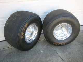 Monoque Aluminum Rear Drag Wheels and Mickey Thompson Radial Tires