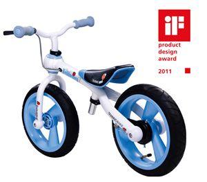 JD BUG First Trainer Balance Bike Bicycle BLUE White 12 Wheels TC09