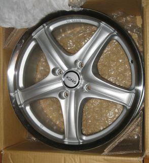 Reign   17x7 4x108   Silver / Polished Lip Racing Wheel (Rim) RARE