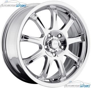17x7 Vision 9x 5x110 5x115 42mm Chrome Wheels Rims inch 17