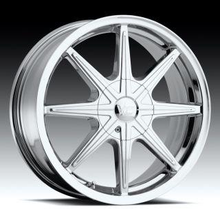 16 inch Vision 378 Kryptonite Chrome Wheels Rims 5x110
