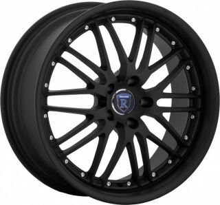 19 Rohana RL06 Staggered Wheels 5x112 Black Fits Mercedes Benz SLK