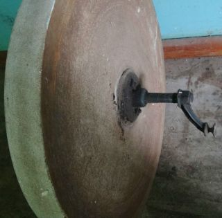 Antique Old Mill Stone Grinding Wheel Grist Mill Black Smith