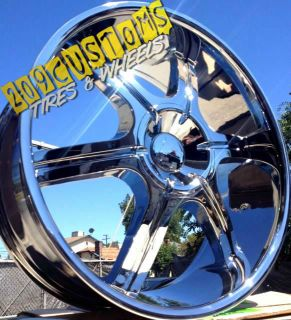22 inch Velocity Wheels Rims Tires VW935 5x115 5x120 22x9 13 Dodge