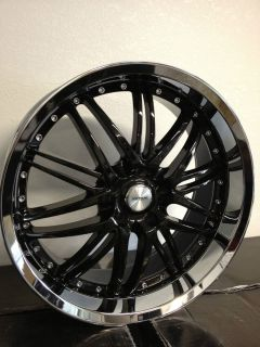 20 Inch Black Chrome Verde Kaos Wheels Cadillac CTS STS Deville DTS