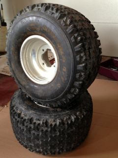 BANSHEE ATV REAR WHEELS AND SHREDDER TIRES SIZE 22x11 9 BOLT 4 115