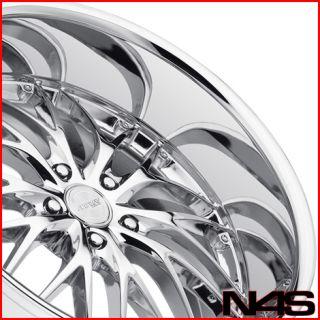 BMW E65 E66 745 750 760 7 SERIES MRR GT1 CHROME STAGGERED WHEELS RIMS
