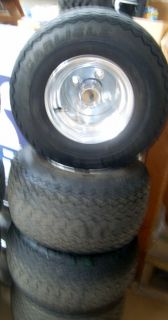 Golf Cart Aluminum Rims and Tires Used 18 8 5 8