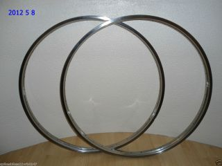 1950s Raleigh Westrick Stainless Steel Wheel Rims 26x1 3 8