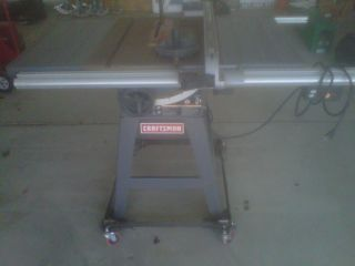 10 Craftsman Table Saw with Stand and Wheels