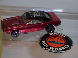 Original Hot Wheels Redline Custom Camaro Red 1968