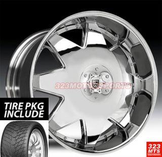 28 Lexani LX2 Rims Tire Pkg Sale 6LUG Chrome