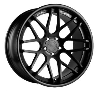 Vertini Magic 19x8 5 Wheels 5x120 Rims Et 15mm Matte Black