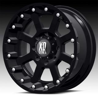 17 inch 17x9 KMC XD Black Wheels Rims 5x5 5x127 2007 Jeep Wrangler