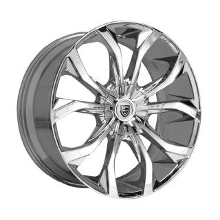 22 inch 22x9 Lexani Lust Chrome Wheel Rim 6x5 6x127
