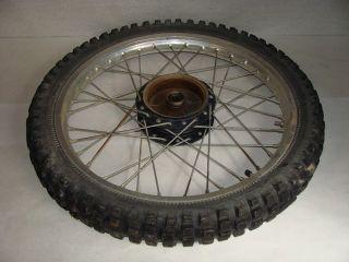 1980 Suzuki RM125 Front Wheel Tire Rim