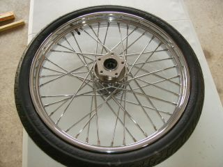 Harley Davidson 21 Front Spoke Wheel Softail Custom Wide Glide