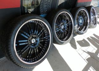 AF128 3pc Wheels Lexani Tires GM Rims Escalade Denali Tahoe Suburban