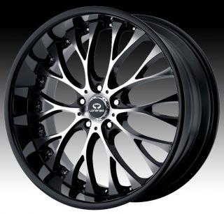 19 inch Black Wheels Rims 5x110 Catera Cobalt HHR Malibu G5 G6