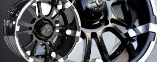 12 x 7 SIXER FA132 FA 132 Golf Cart Car Rim Wheel Set FA132