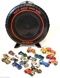 Hot Wheels Super Rally Case 13 Hot Wheel Cars 3 Matchbox 1 Coca Cola