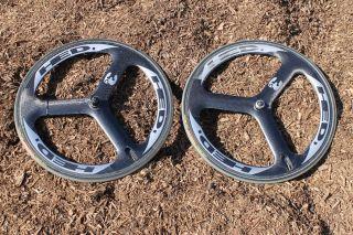 Hed 3 Aero Race Wheels Tri Spoke Trispoke HED3 H3 Custom 700c