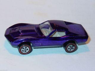 Hot Wheels Redline Custom Corvette Medium Purple Spectraflame Nice