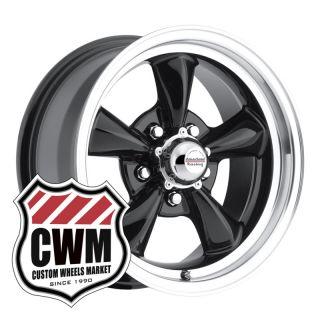 15x7 Black Classic Wheels Rims 5x4 75 Lug Pattern for Chevy 150 210