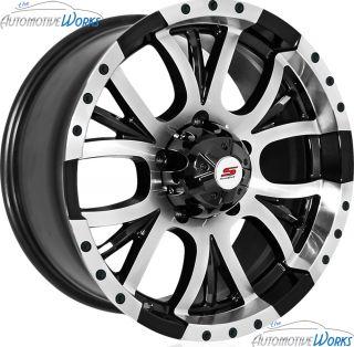 17x8 Sendel S13 6x139 7 6x5 5 10mm Black Machined Wheels Rims Inch 17