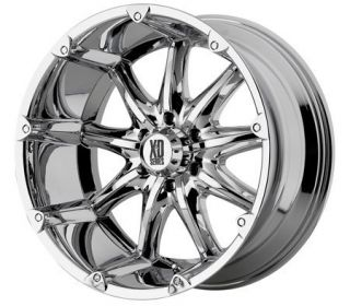 18 inch XD Badlands Chrome Wheels Rims 6x135 Ford 18mm